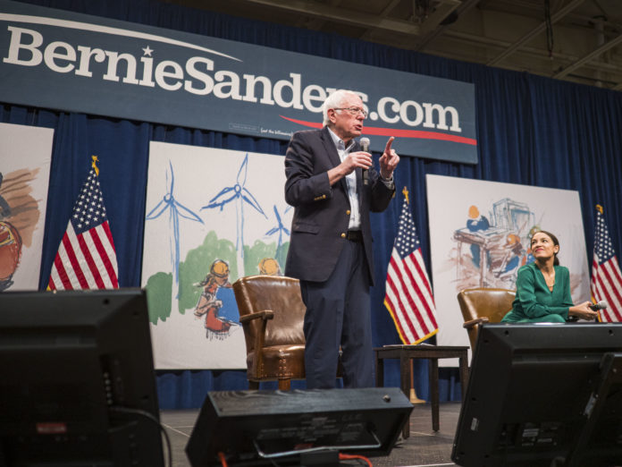 Iowa - Sanders - AOC