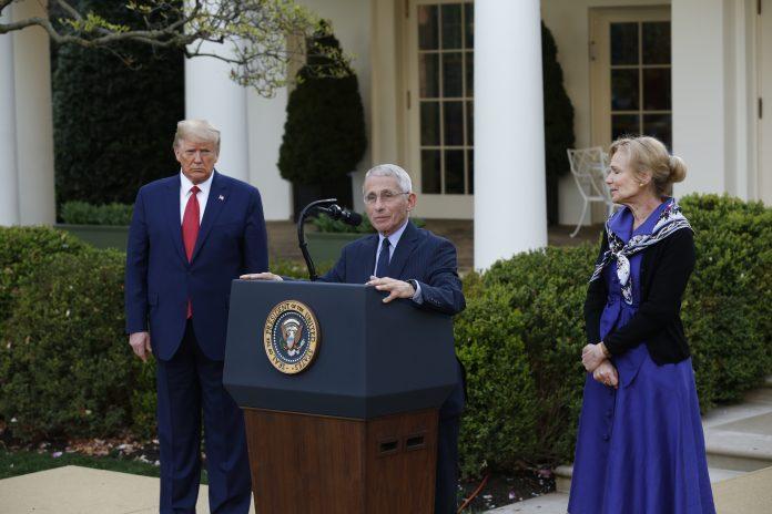 usa 2020 - 218 - Trump - Fauci - Birx
