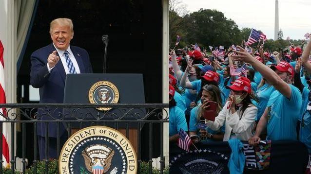 201011 Usa 2020 - 23 - Trump - balcone - Casa Bianca