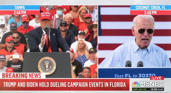 Usa 2020 - 4 - Trump - Biden - Tampa - contagi