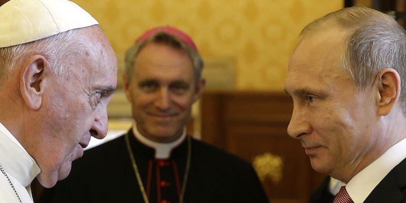 Papa Francesco e Vladimir Putin in Vaticano