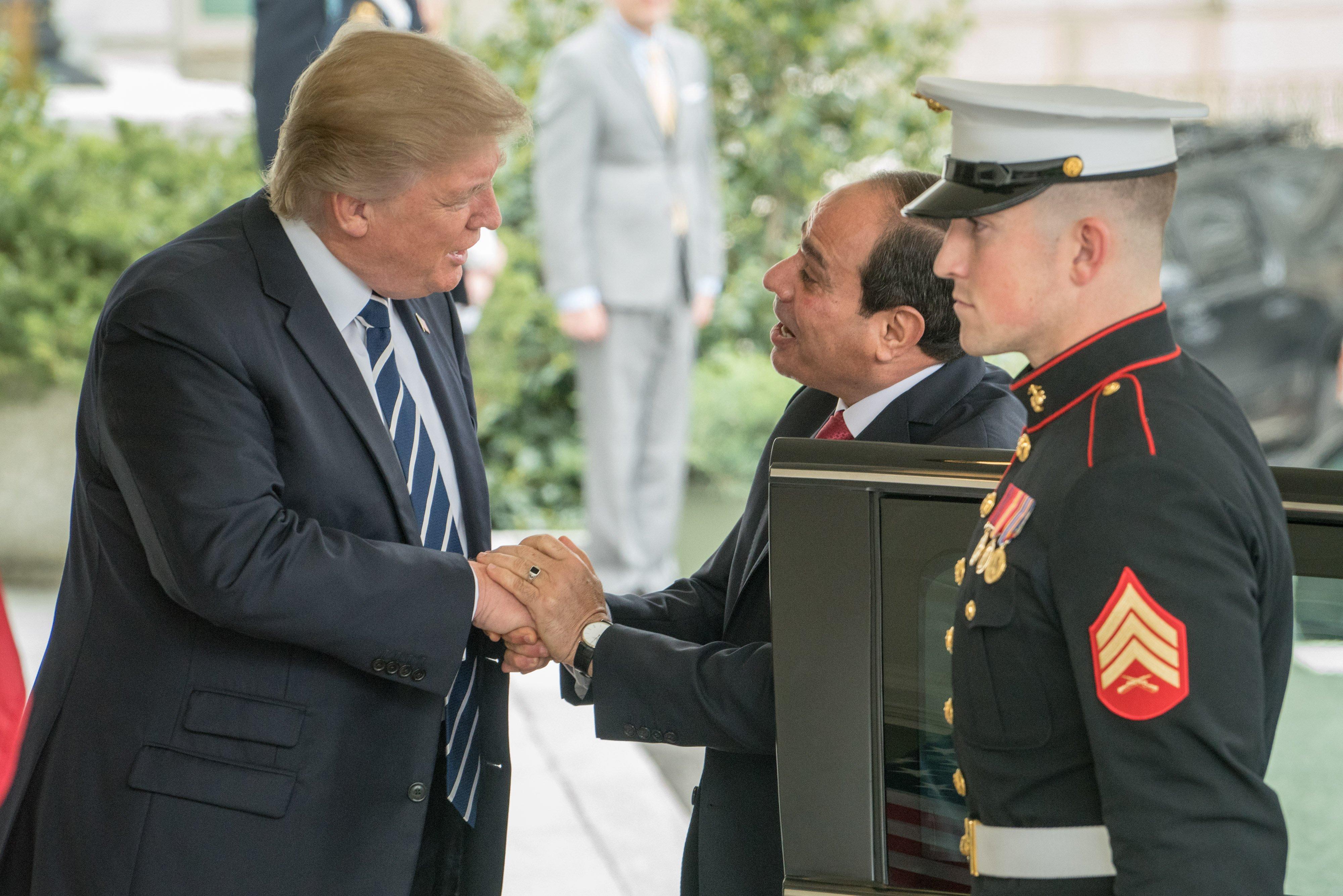Trump-Sisi-Egitto