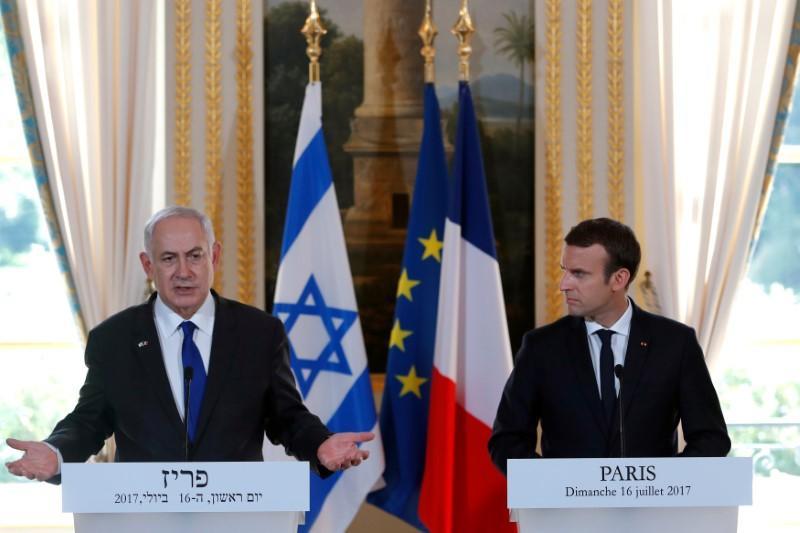 Gerusalemme - Netanyahu - Macron