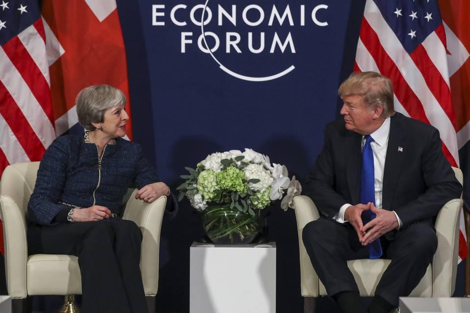 Davos - May - Trump