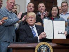 Trump - firma - dazi