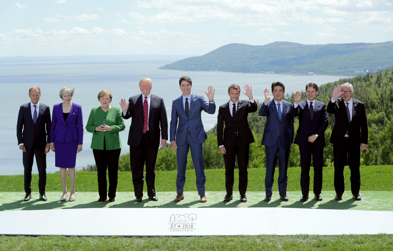 G7 - Vertice - Trump - foto di famiglia
