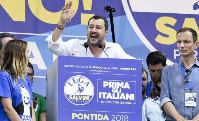 Salvini - Ue - Pontida - Parlamento europeo