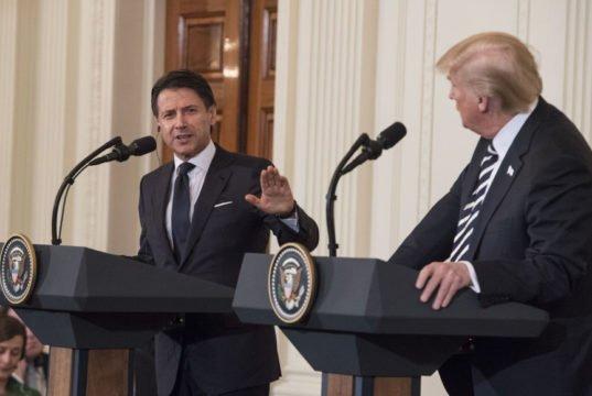 Conte - Trump - conferenza stampa