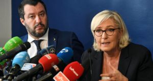 europee - Salvini - Le Pen