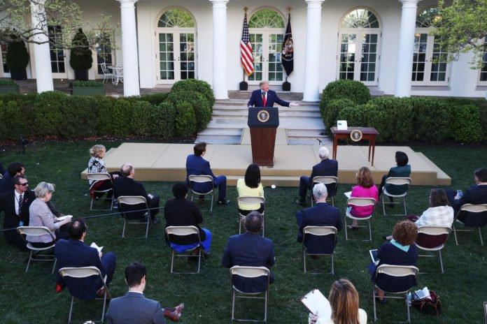 Usa - coronavirus - Trump - briefing