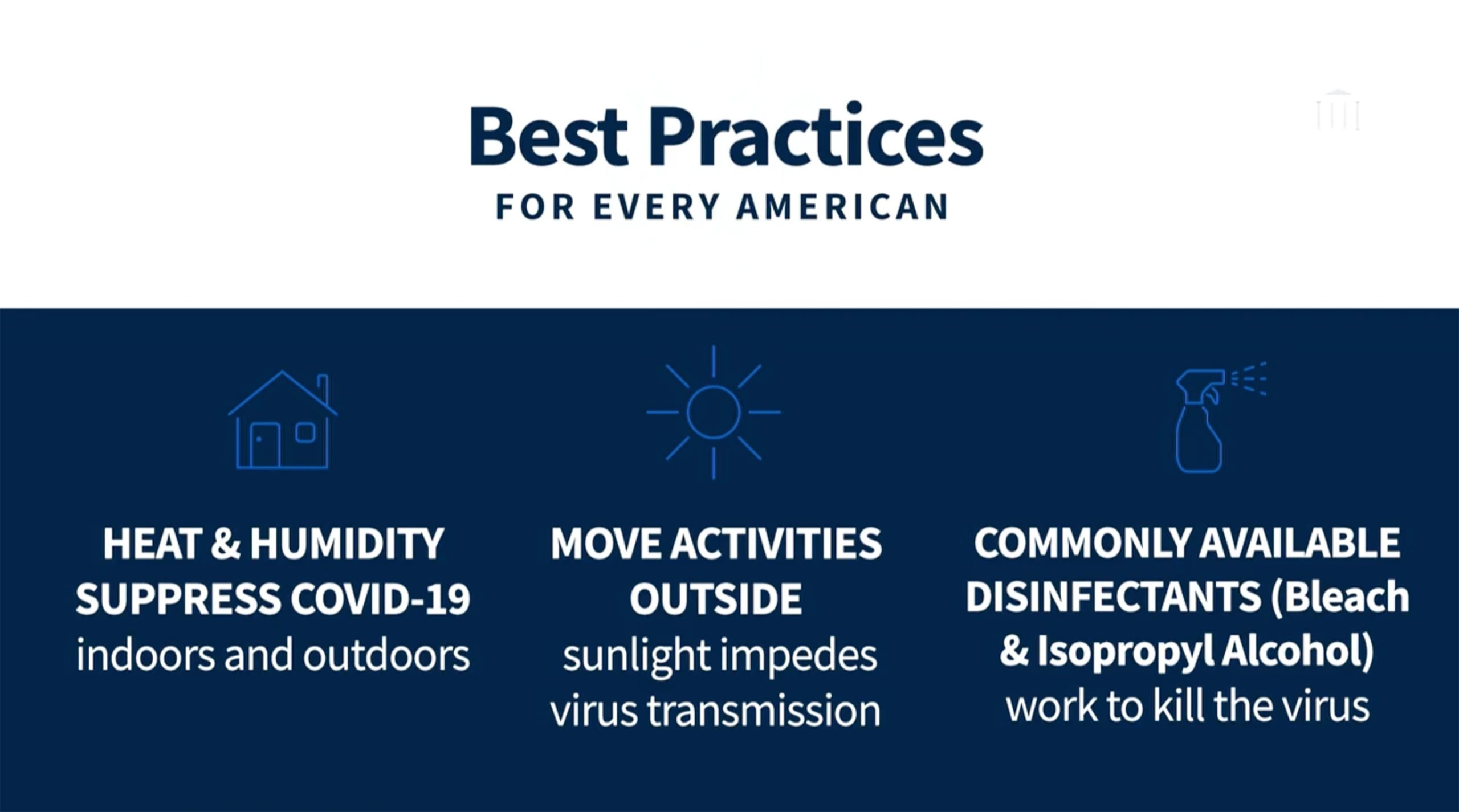 coronavirus - Usa - Trump - consigli - best practices