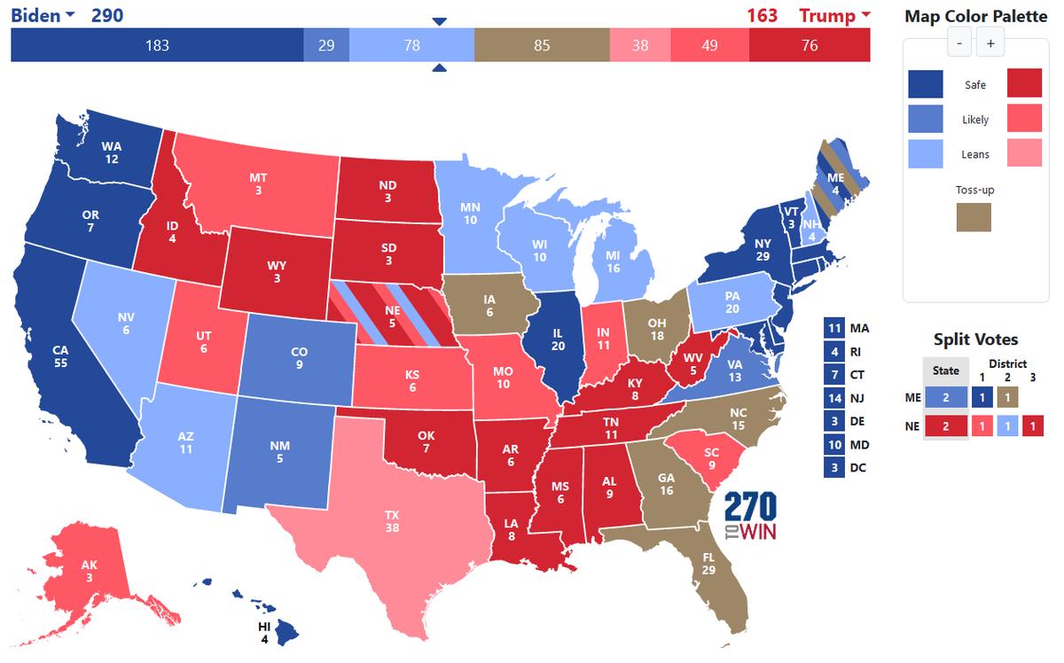 Usa 2020 - Trump - Biden - mamma Stati in bilico