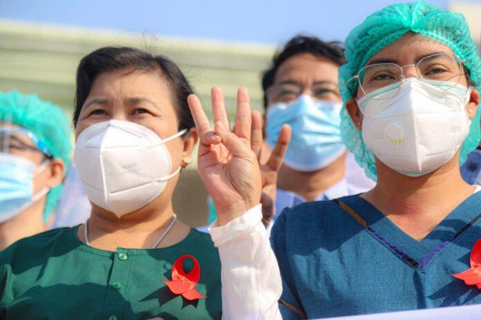 210204 Birmania - colpo di Stato - proteste